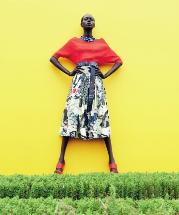 mixed message Ajak Deng by julia noni for neiman marcus 5