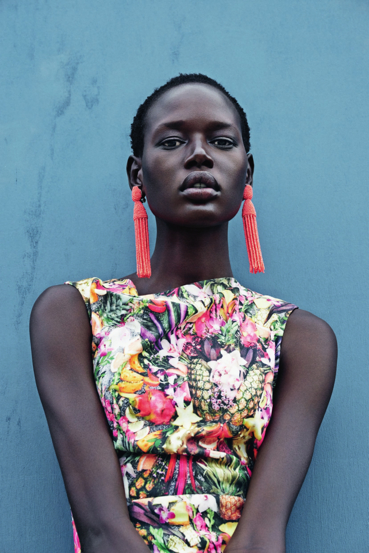 mixed message Ajak Deng by julia noni for neiman marcus