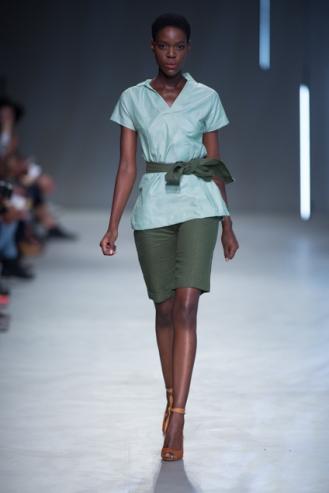 Phetogo Louwfant walking for Shirt & Co ss15