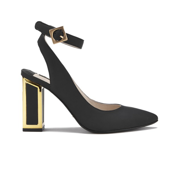 Kat Maconie Women's Amelia Leather Block Heel Ankle Strap Court Shoes 1