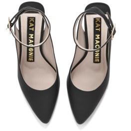 Kat Maconie Women's Amelia Leather Block Heel Ankle Strap Court Shoes 2
