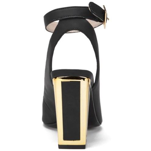 Kat Maconie Women's Amelia Leather Block Heel Ankle Strap Court Shoes 3