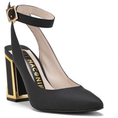 Kat Maconie Women's Amelia Leather Block Heel Ankle Strap Court Shoes
