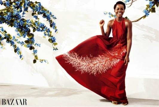 Lupita covers Harper's Bazaar May 2015 1