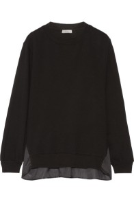 clu-satin-paneled-cotton-jersey-sweatshirt