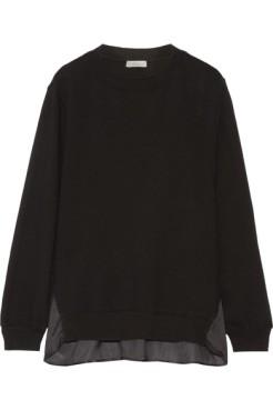 clu-satin-paneled-cotton-jersey-sweatshirt