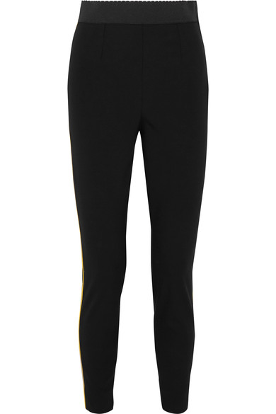 dolce-gabbana-satin-trimmed-stretch-wool-and-silk-blend-leggings