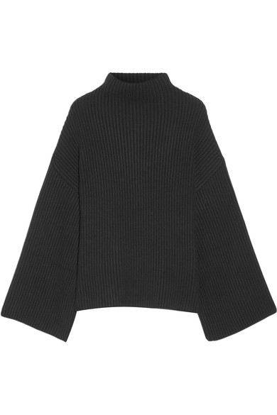 rosetta-getty-asymmetric-ribbed-wool-and-cashmere-blend-turtleneck-sweater
