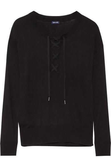 splendid-lakewood-lace-up-stretch-knit-sweater
